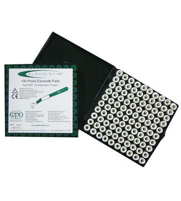 Alpha-stim probe electrode pads
